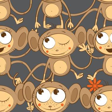 Pattern with monkeys.