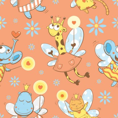 Pattern with fairies.