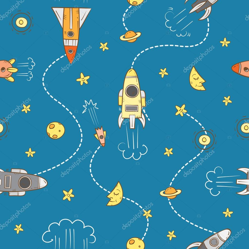 Pattern with rockets.