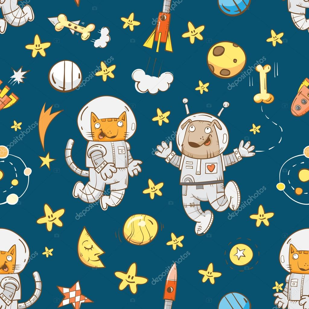 Pattern with  astronauts.