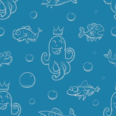 Pattern with fishes.