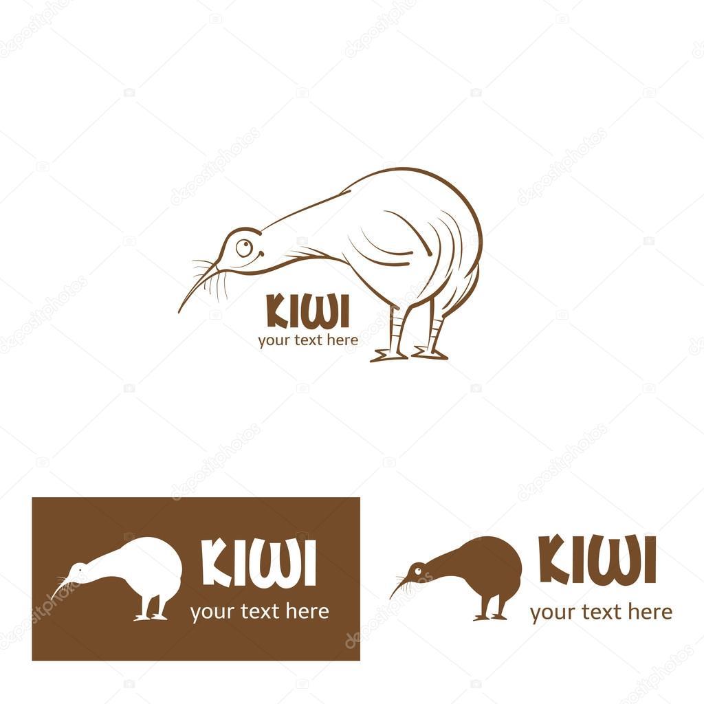 Cute cartoon kiwi bird.