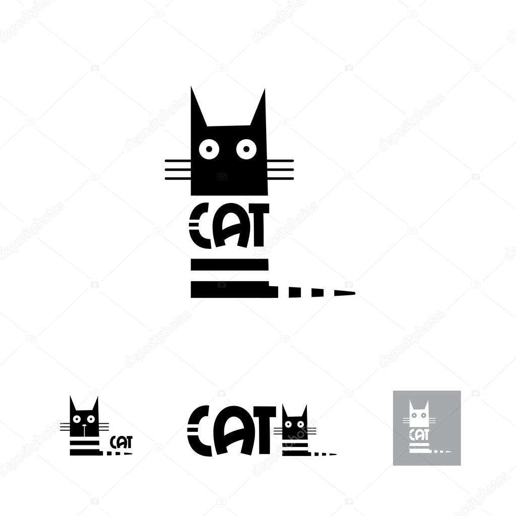 Black Cat Logo Stock Vector C Voron4ihina 92829154