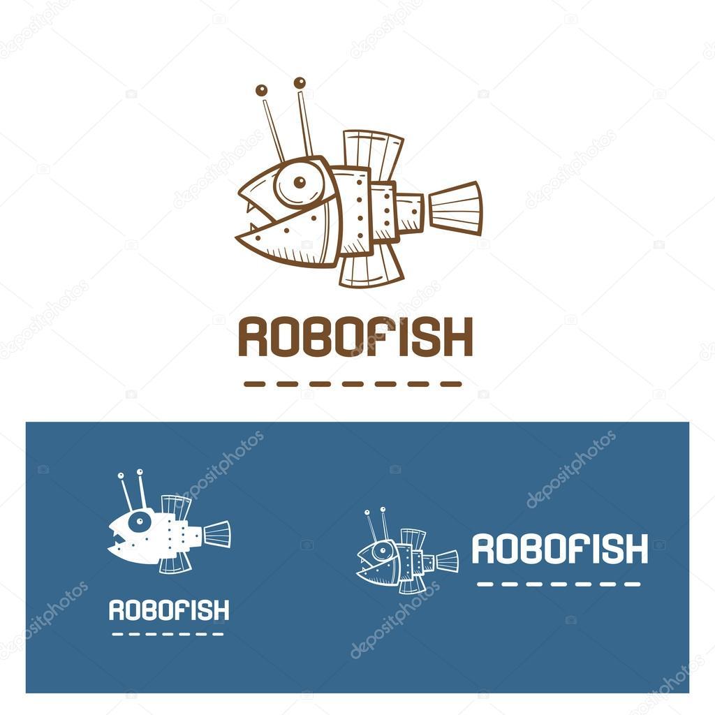 Robot fish  logo.
