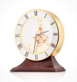 antik óra, fehér háttér