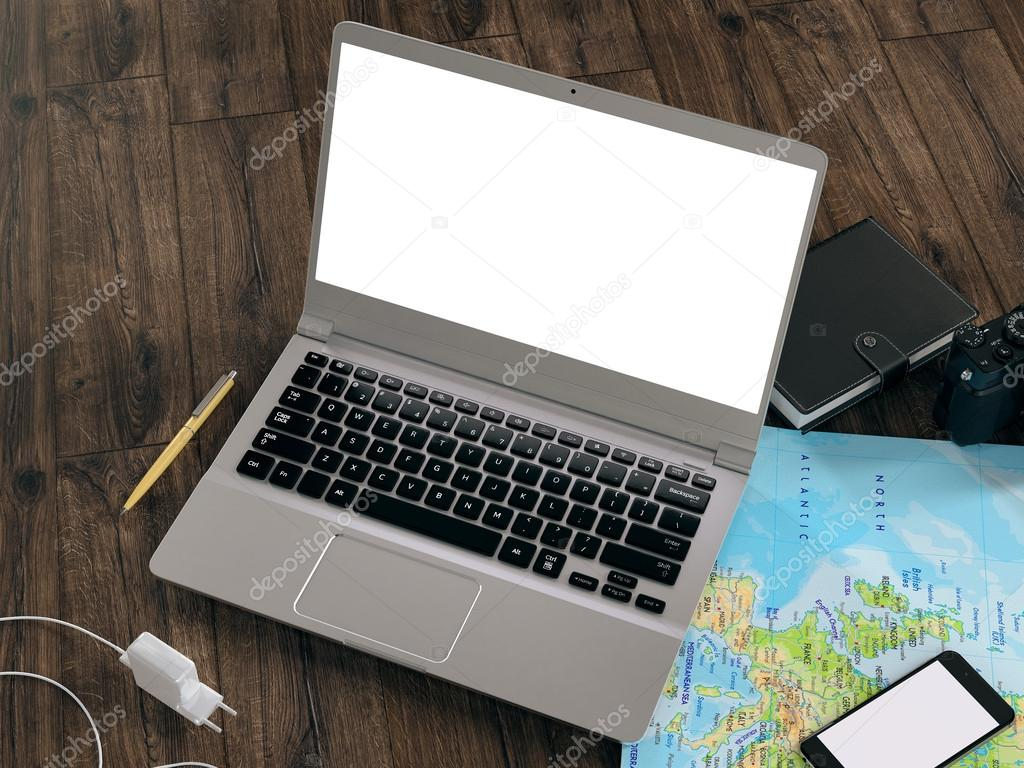 Traveling. Mockup business template.