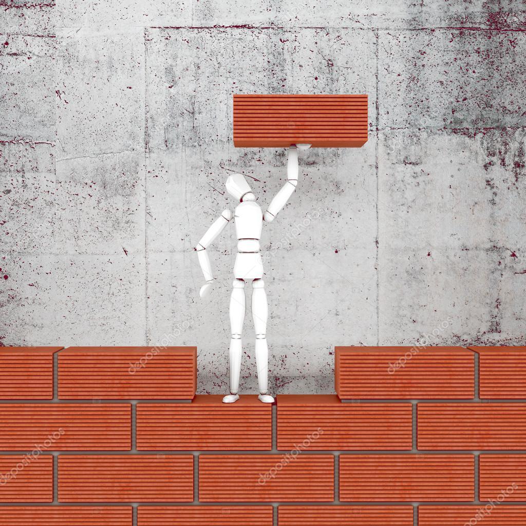Brick wall. High resolution.