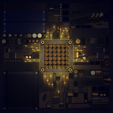 Electronic circuit chip on PC board