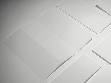 Template business for branding. High resolution. 3D stock vector