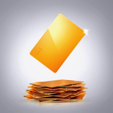 Golden bussines card on grey background