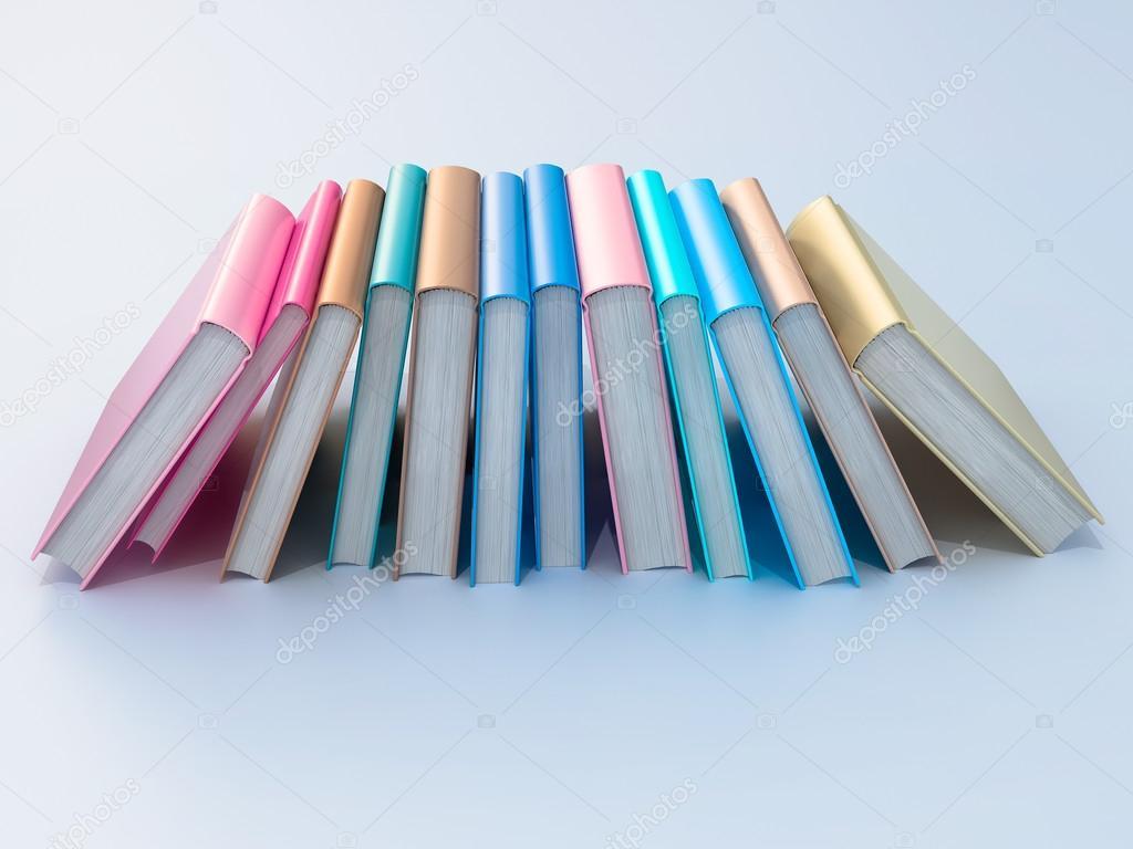 Empty color book mockup template