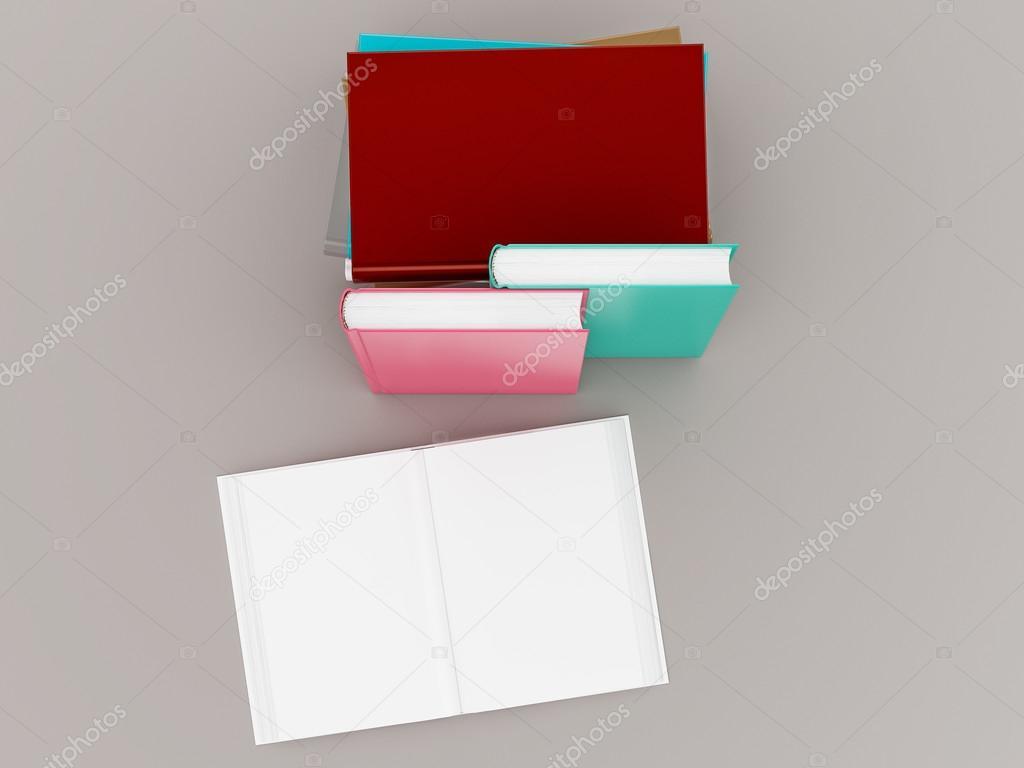 Leere Farbe Buch Nachbildung Vorlage auf grauem Hintergrund ...