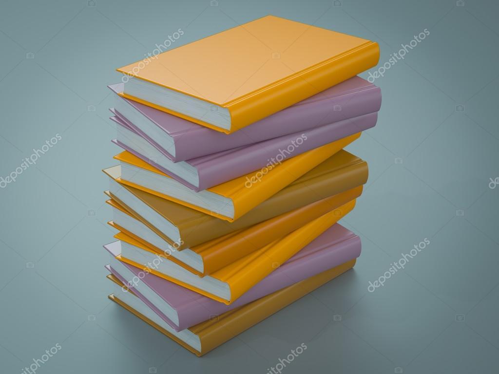 Plantilla de maqueta de libros de colores vacía. Alta resolución ...