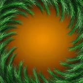 Christmas green  framework isolated on orange background