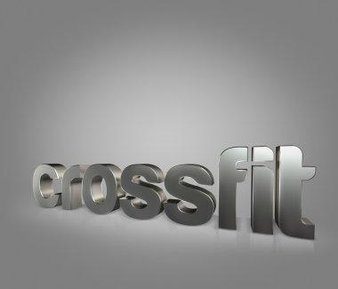 Motivational fitness phrases iron letters on black studio background