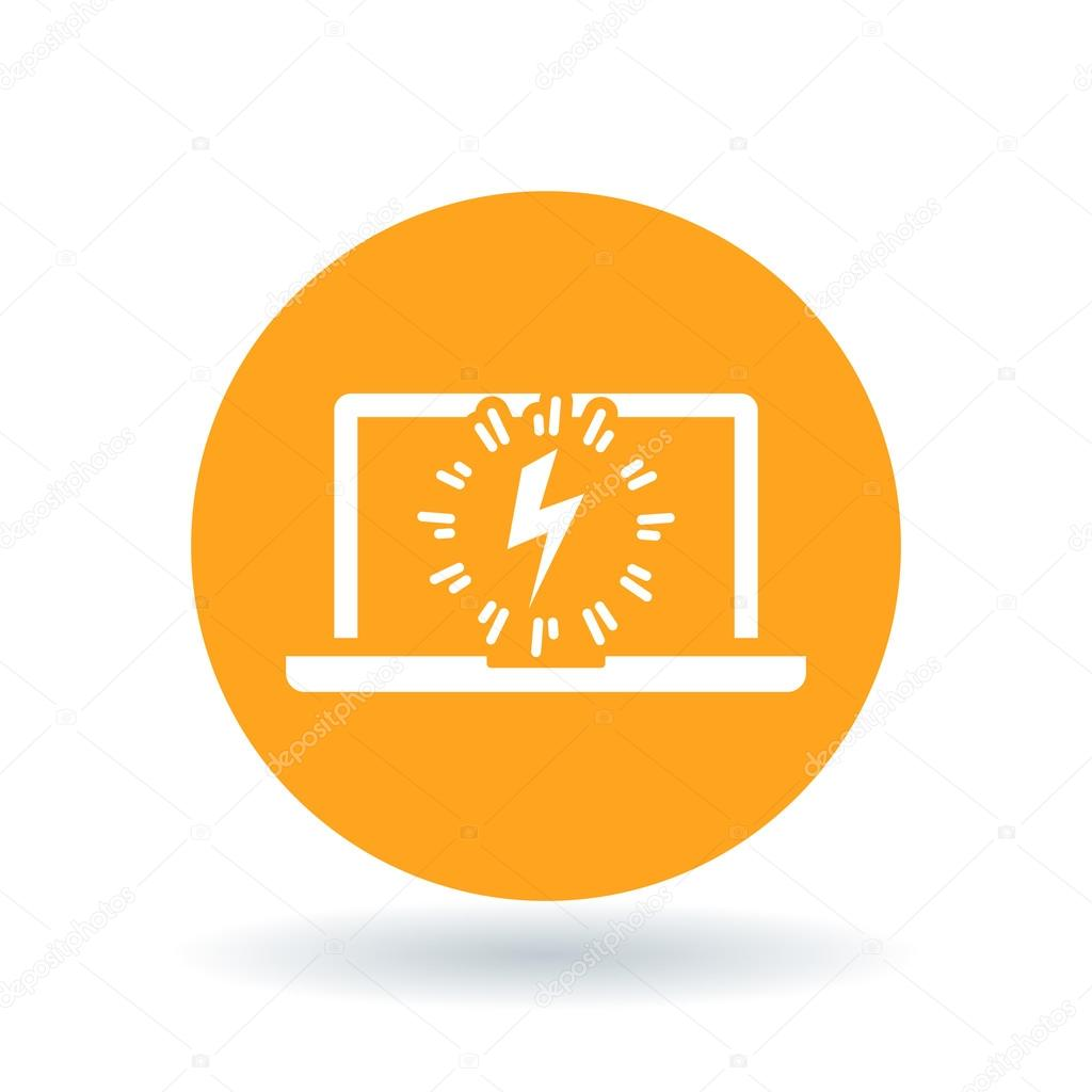 Laptop power charge icon notebook lightning bolt sign computer laptop power charge icon notebook lightning bolt sign computer electric flash symbol vector biocorpaavc Choice Image
