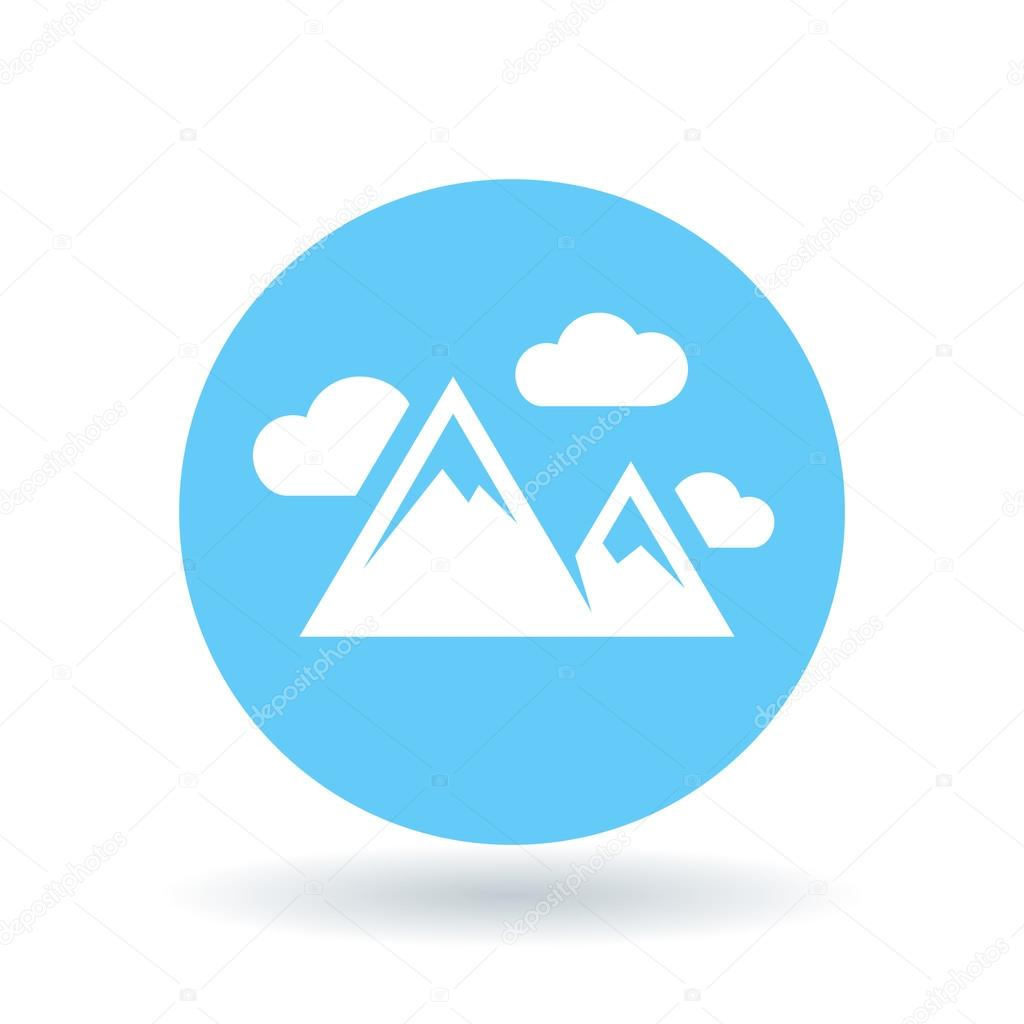 Mountain range icon  Mountains symbol  Mountain peak sign  Vector