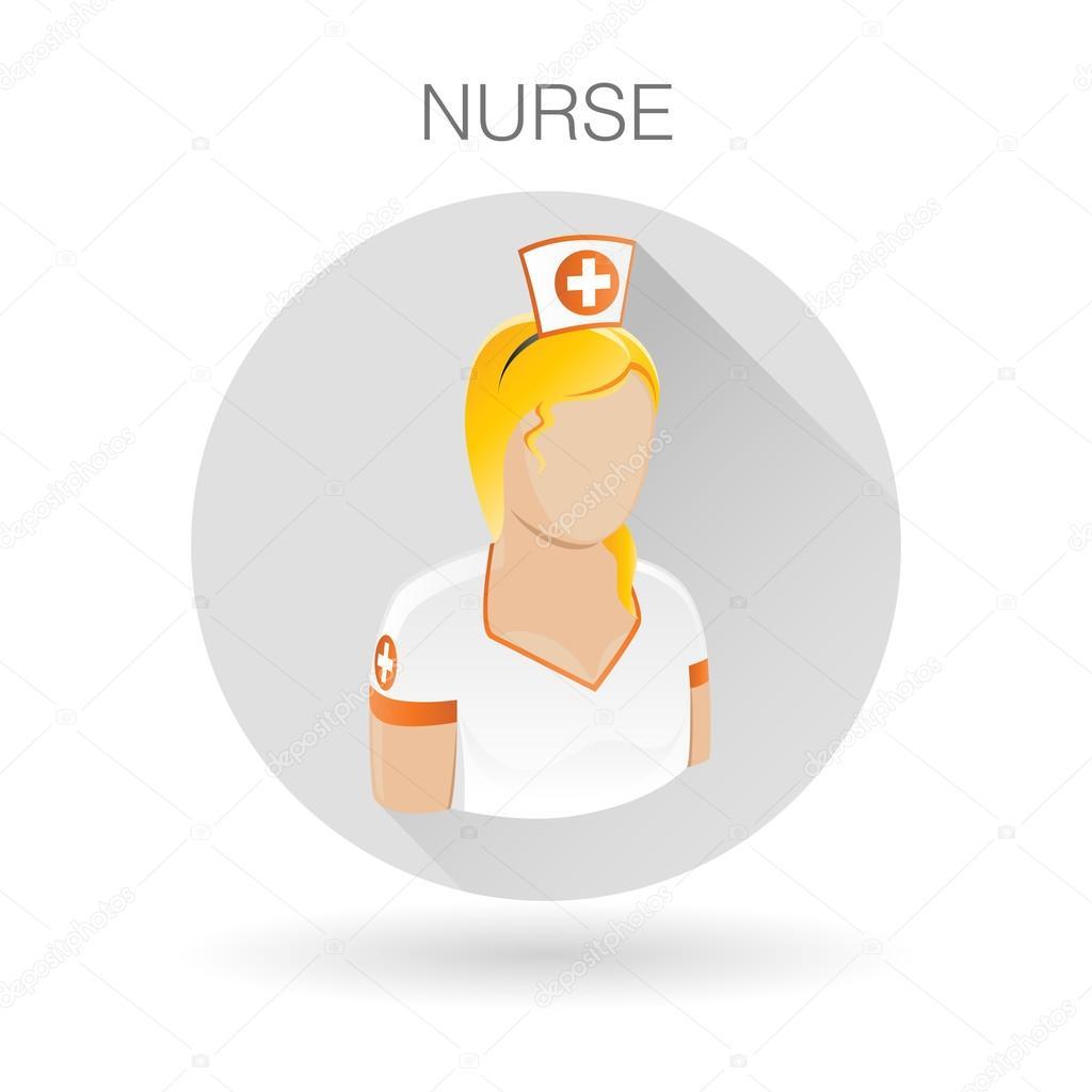 Female nurse icon medical assistant symbol female medic sign female nurse icon medical assistant symbol female medic sign nurse profile icon on light gray circle background vector illustration buycottarizona