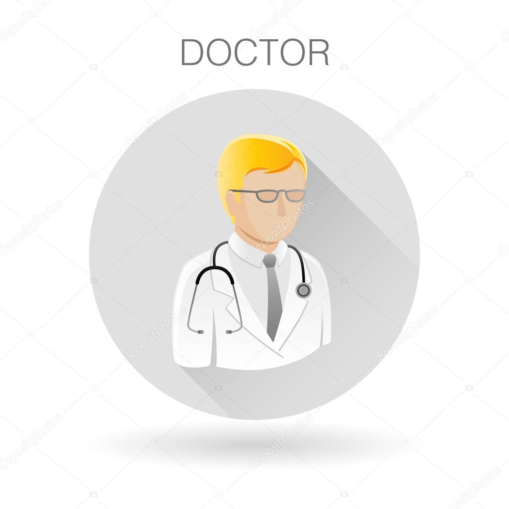 Doctor icon medical practitioner symbol physician sign vector medical practitioner symbol physician sign doctor profile icon on light gray circle background vector illustration vector by themoderncanvas biocorpaavc
