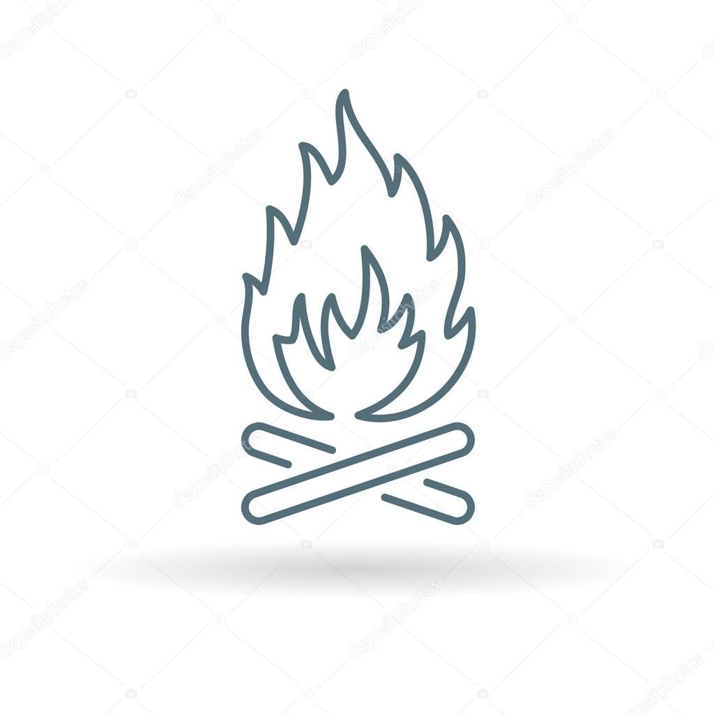 houtvuur pictogram buiten vreugdevuur symbool kamp vuur teken stockvector themoderncanvas. Black Bedroom Furniture Sets. Home Design Ideas