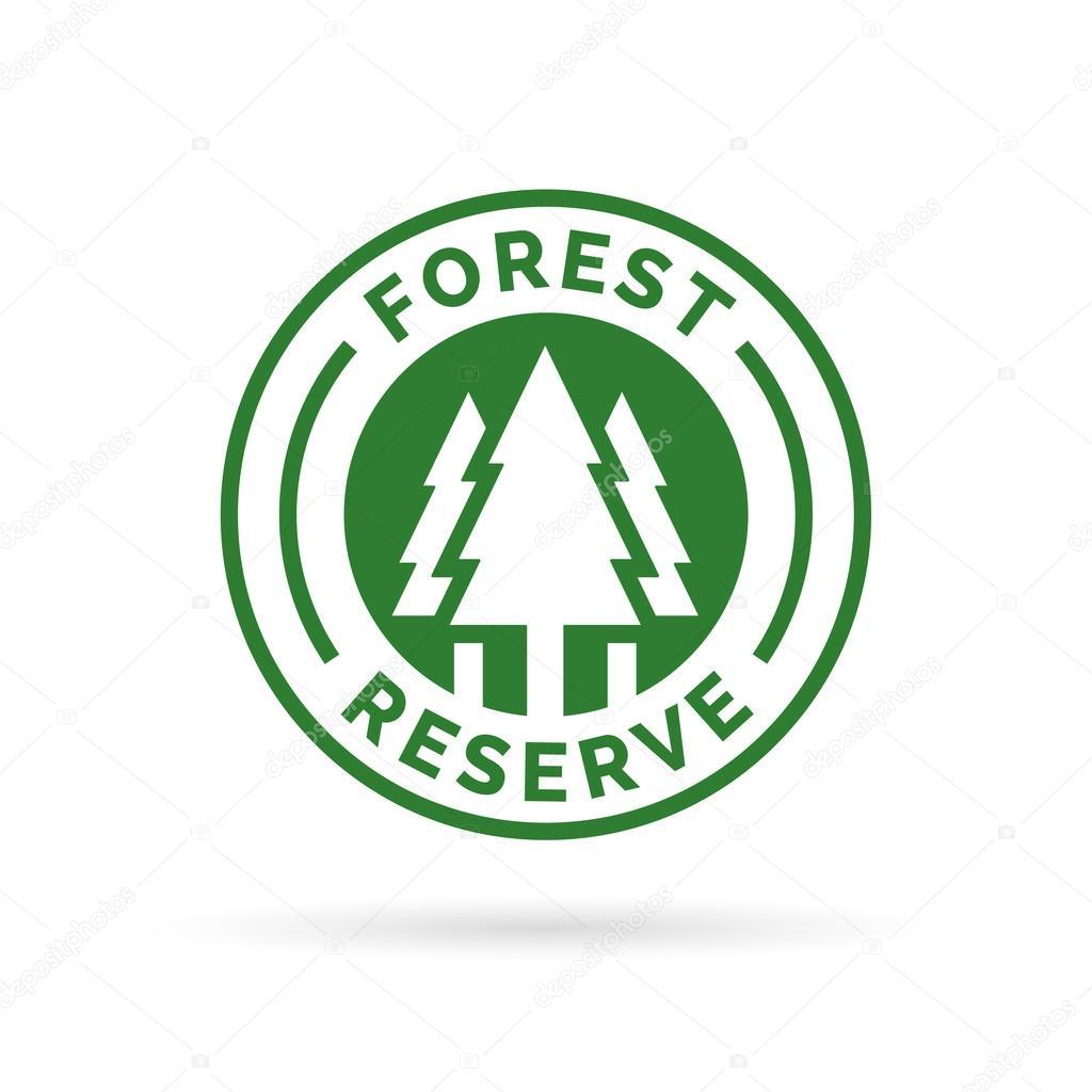 wholesale autumn shoes 100% genuine Badge Forêt réserve icône. Protégé le signe de la forêt ...
