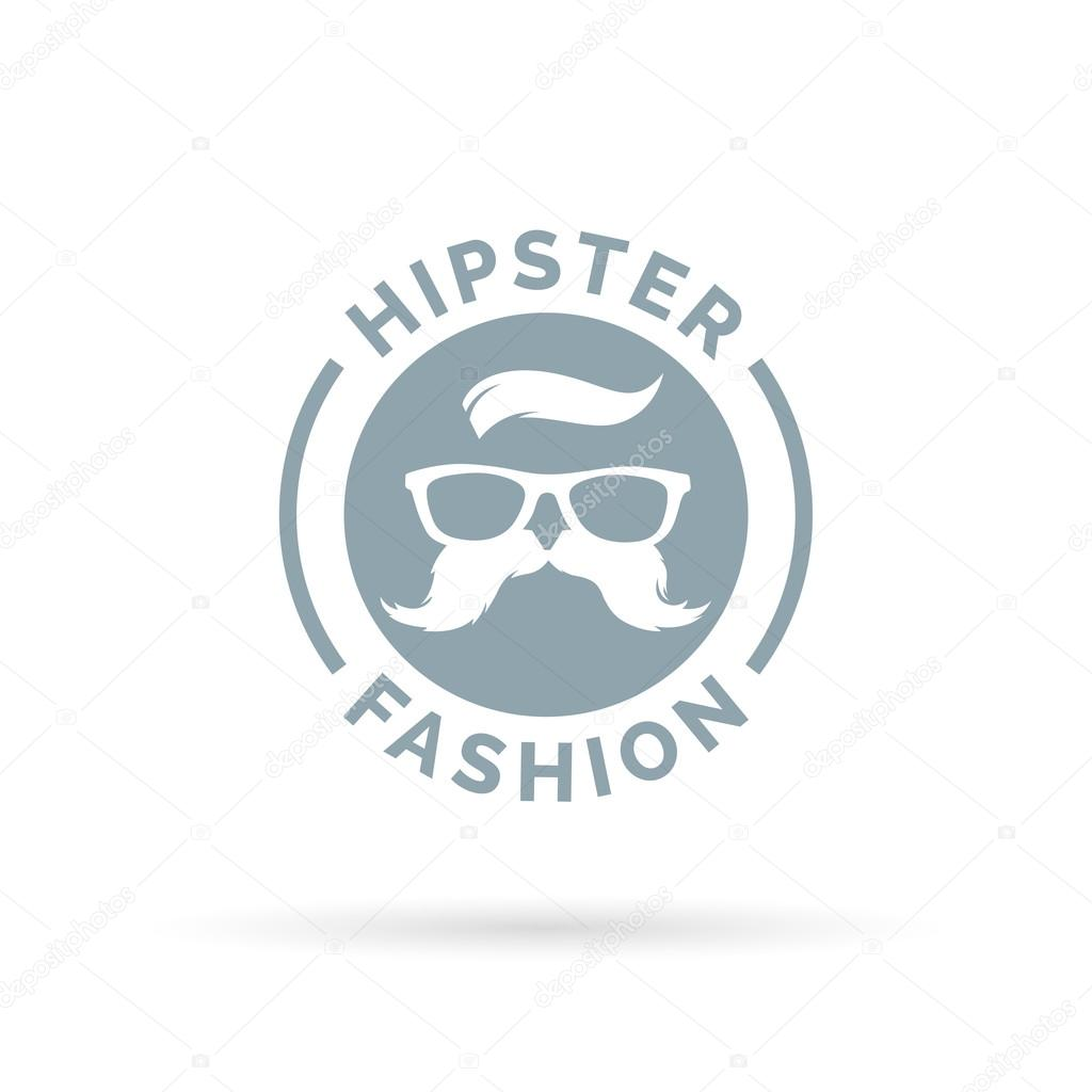 Hipster Fashion Icon With Hippie Glasses And Mustache Symbol