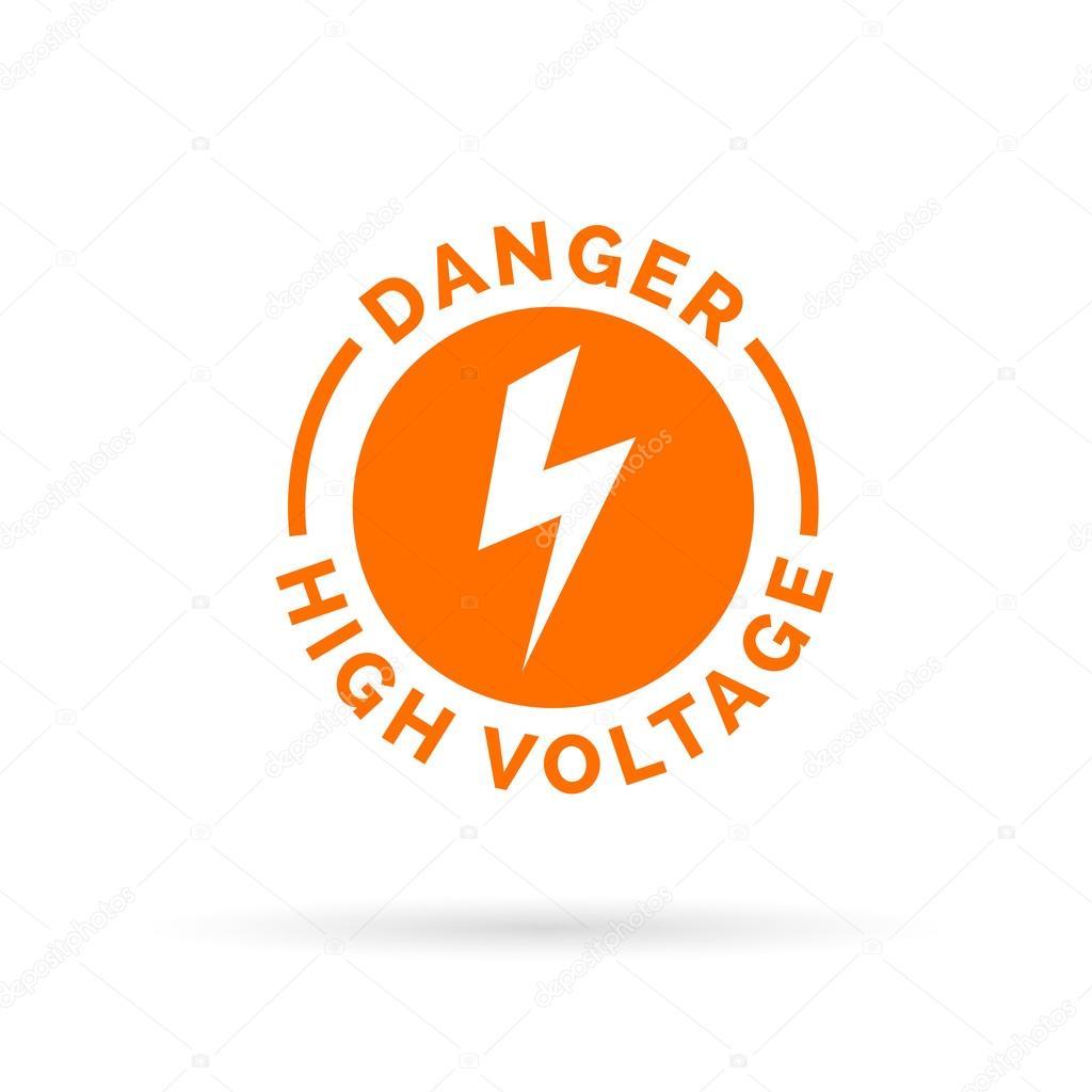 Danger high voltage sign. Electrical hazard icon. Electric shock ...