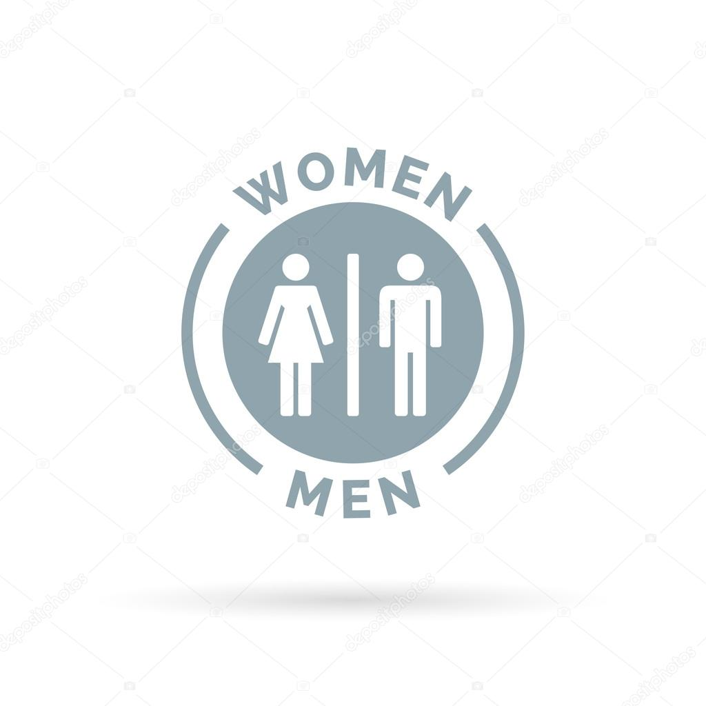 Men And Women Toilet Icon Male, Men And Women Bathroom Sign
