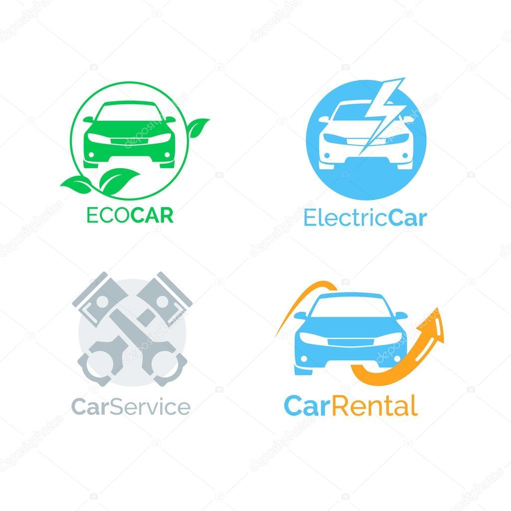 Iconos de coche logo vector diseño de plantilla — Vector de stock ...