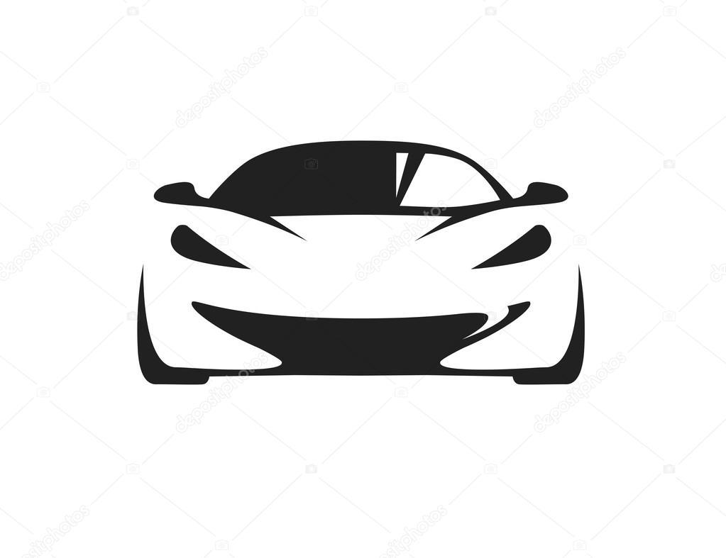 coche del concepto con silueta de veh u00edculo superdeportivo