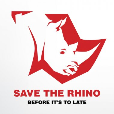Save the Rhino before it's to late concept