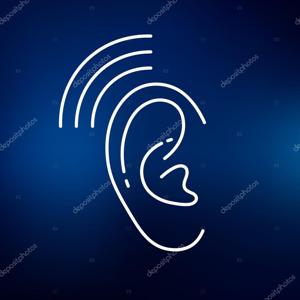 Ear Hearing Aid Icon Archivo Imgenes Vectoriales