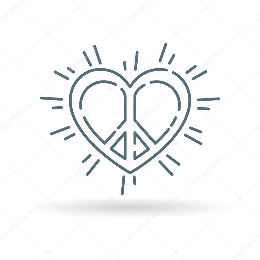 Conceptual Peace Heart Icon Stock Vector Themoderncanvas 95359606