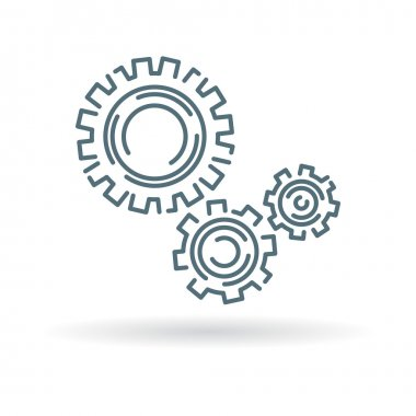 Gears and cogs icon