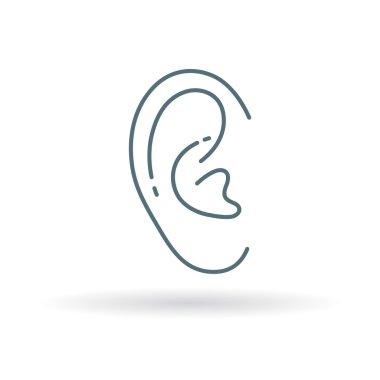 Healthy ear icon