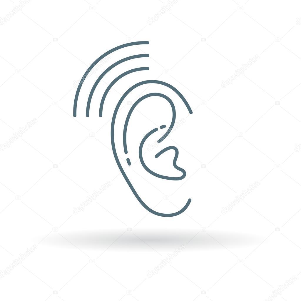 Ear Hearing Aid Icon Vector De Stock Themoderncanvas 95364504