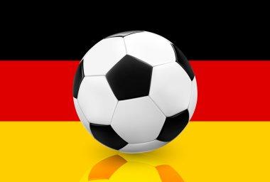 Soccer ball on German flag