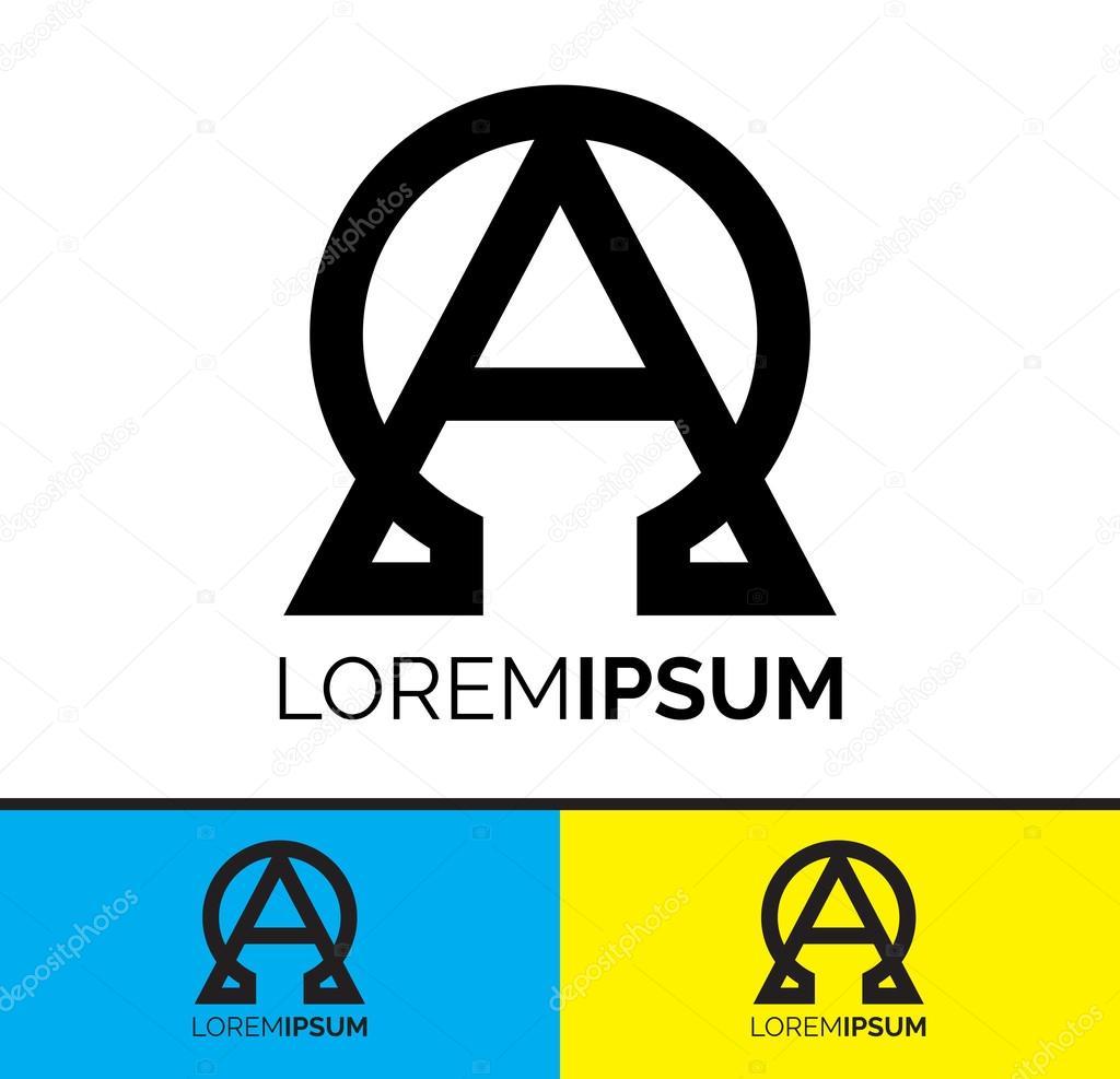 Koncepcyjny Projekt Ikona Logo Symboliczne Alfa I Omega