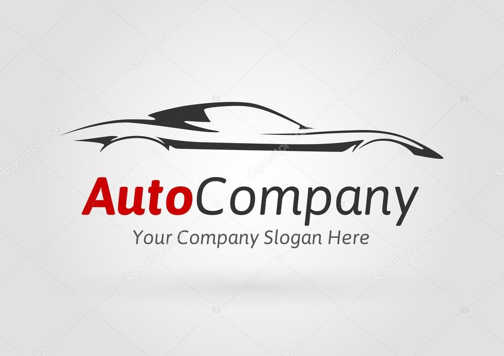 Modern Auto Company Vehicle Logo Design Concept With