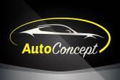 Společnost auto Logo vektorové koncepce designu s sportovní automobil silueta