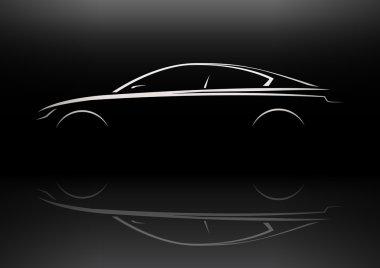 Modern Vehicle Sports Saloon Executive Silhouette Concept Car Design