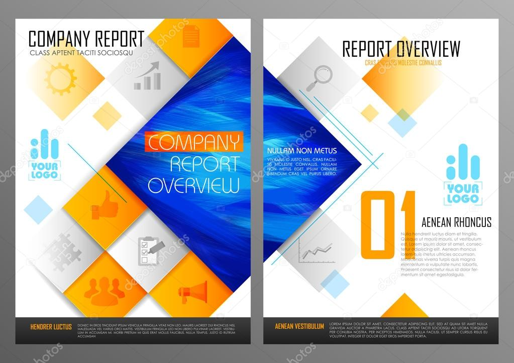 annual report and presentation template design — stock vector, Technology In The Classroom Free Presentation Template, Presentation templates
