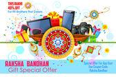 Dekorativní rakhi Raksha Bandhan prodej propagační banner