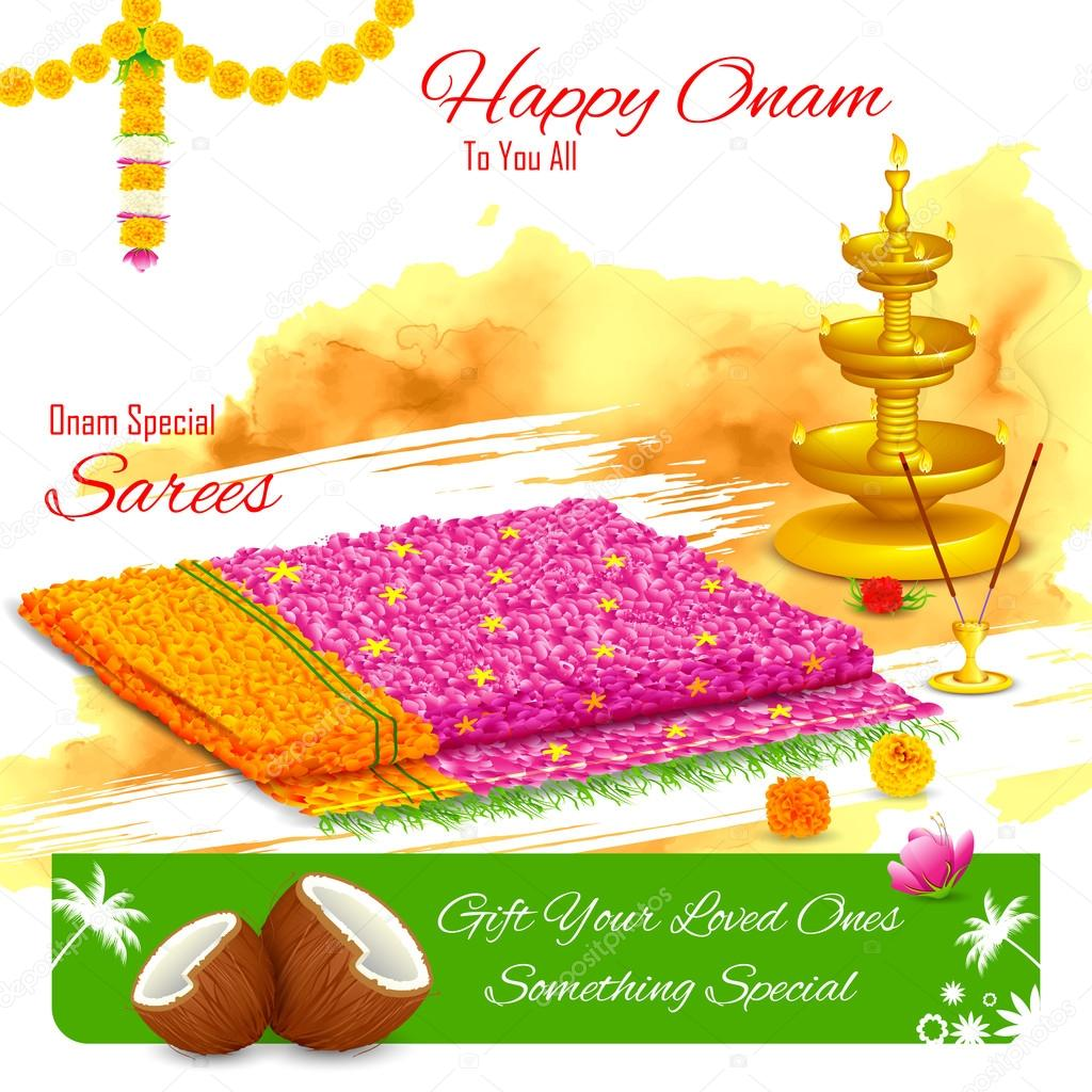 Gift of saree in Happy Onam