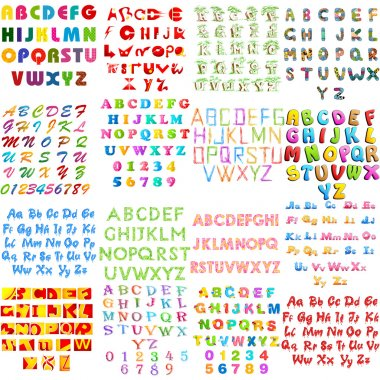 English alphabet jumbo collection