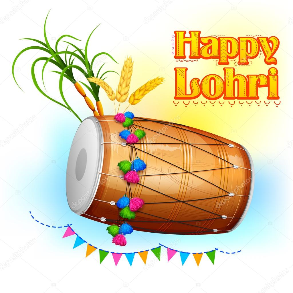 Happy Lohri background — Stock Vector © vectomart #95011584