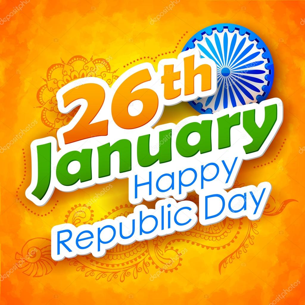 Illustration of abstract Indian Republic Day background stock vector