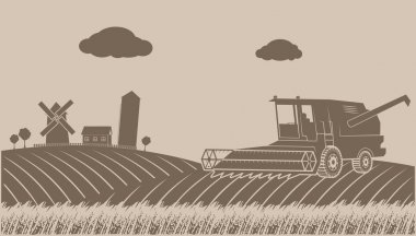cleaning up grain-growing rural landscape