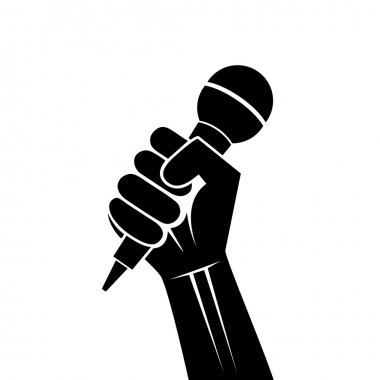 Drawing a microphone in a hand