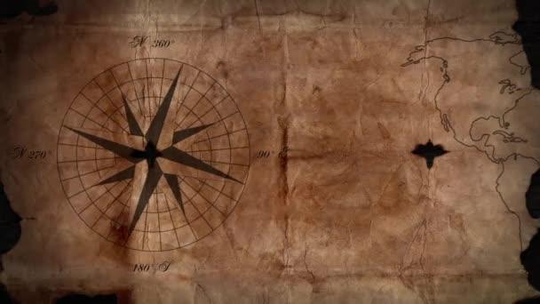 Hogy az iránytű tűje régi Térkép